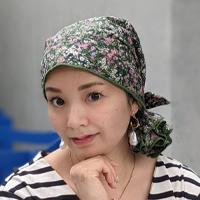 ケア帽子-Karina-(マジークハット -カリーナ-)バンダナタイプ(モネフラワー柄)