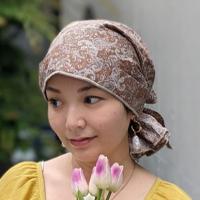 ケア帽子-Karina-(マジークハット -カリーナ-)バンダナタイプ(フレンチペイズリー柄)