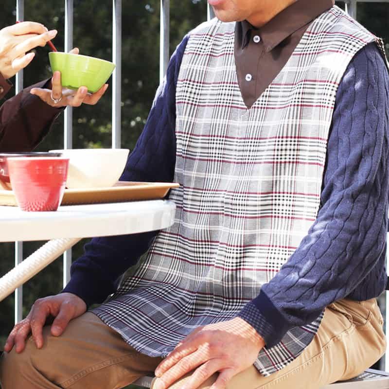男性用お食事エプロン Mon tablier -モンタブリエ - Men's はっ水加工有り