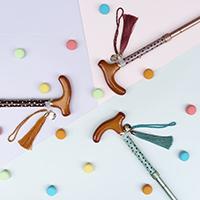折りたたみ杖 オリジナルポーチ付 BONBON STICK -Chocolat-